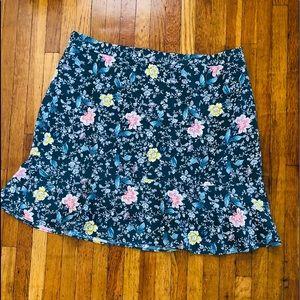 LOFT Floral Skirt Size 14